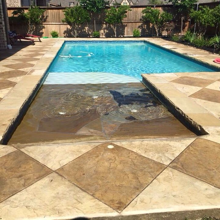 Beach Entry on Straight line Pool My Designs Pinterest - pool fur garten oval