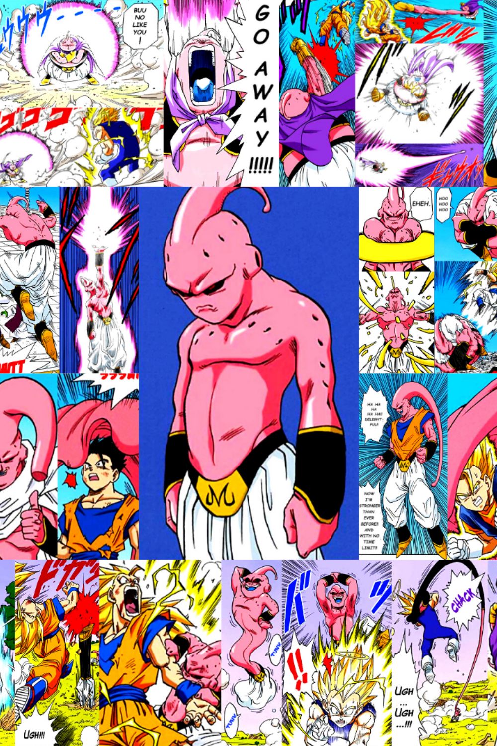 Majin Buu S Best Moments Dragon Ball Z Four Row Etsy Poster Prints Dragon Ball Z Dragon Ball Art