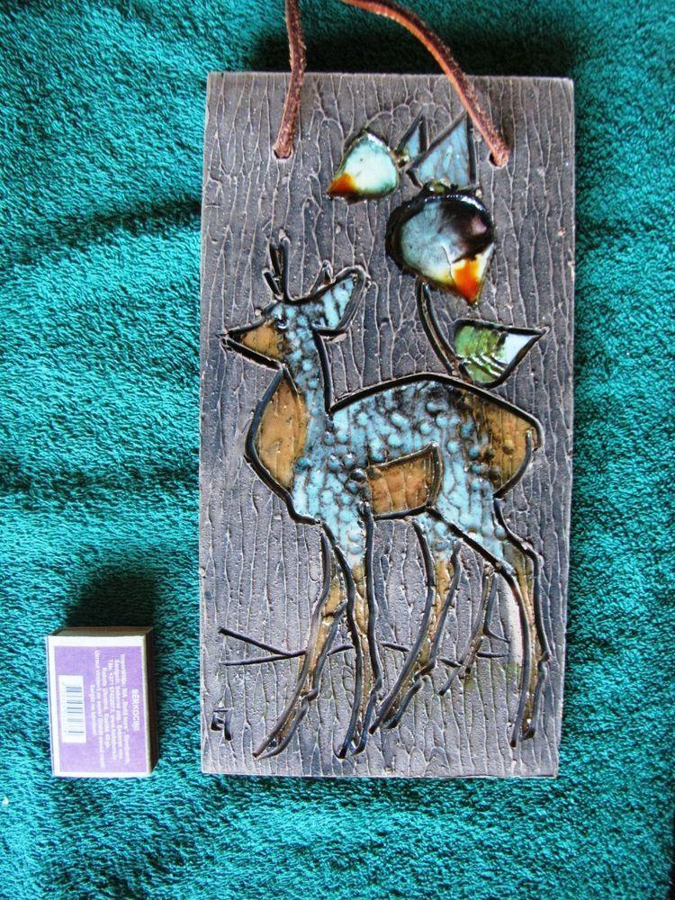 Tile Plaques Home Decor Vintage Wall Plaque Tile Sweden Tilgmans Keramik Artist Eivor Lang
