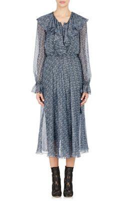 Philosophy di Lorenzo Serafini Floral Georgette Ruffle Dress at Barneys New York