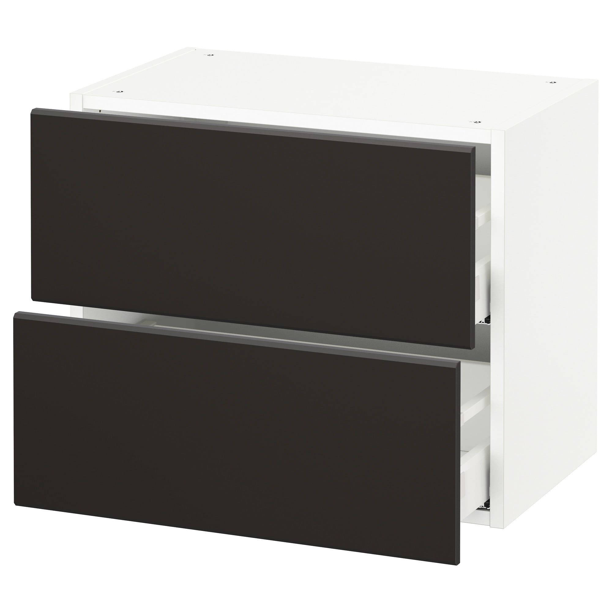 Ikea Sektion White Maximera Kungsbacka Anthracite Wall Cabinet With 2 Drawers Ikea Drawers White Chests