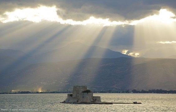 Près du port de Nauplie, en Grèce.
