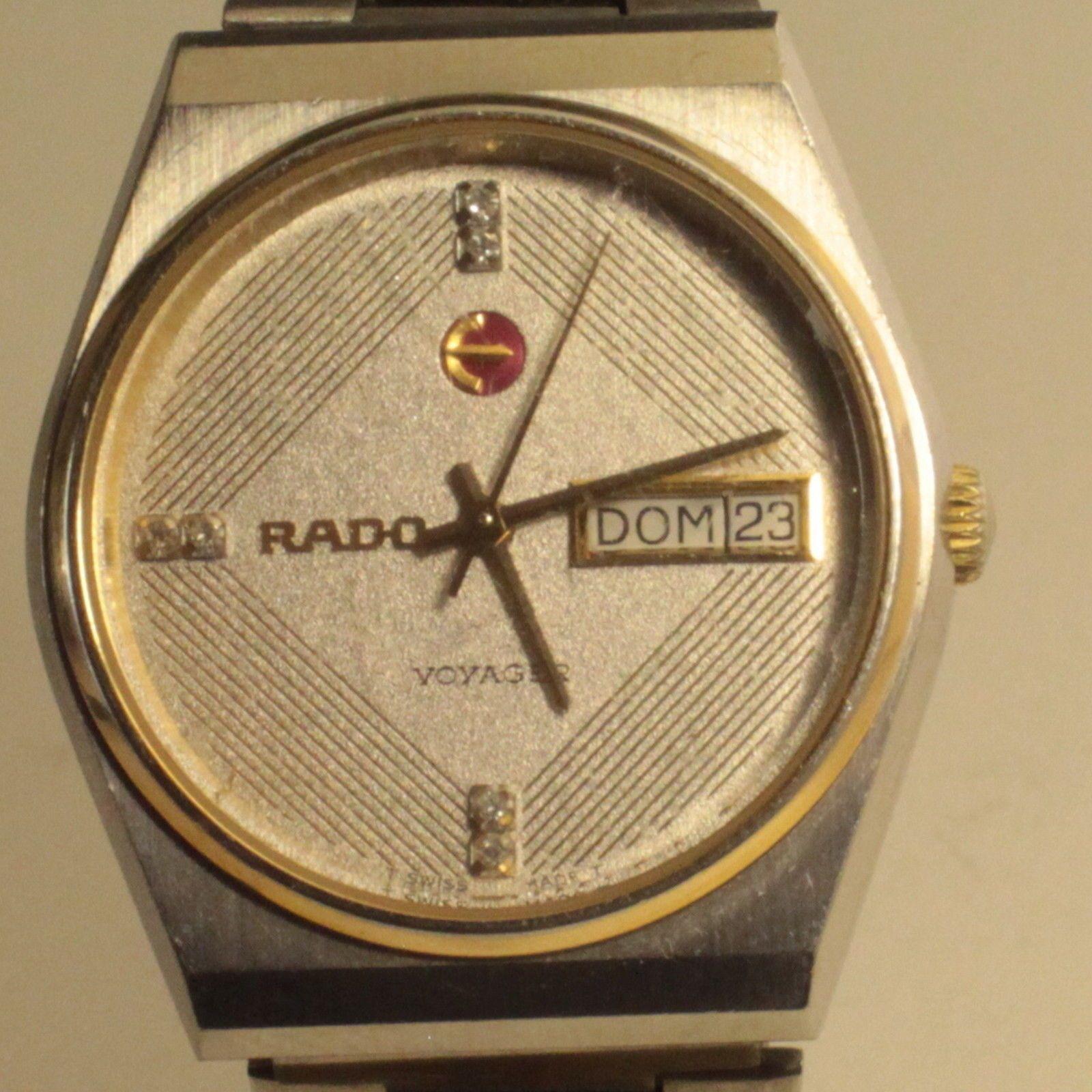 Rare Rado Voyager Men's Watch, Automatic ETA 2836-1 , Swiss Made,Read condition