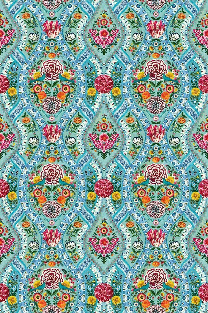 PiP Melody Blauw behang Pip studio, Discount wallpaper