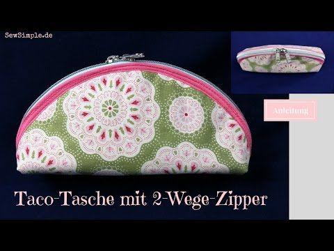 taco tasche mit 2 wege zipper n h anleitung youtube baaaaaags taschen n hen n hen. Black Bedroom Furniture Sets. Home Design Ideas