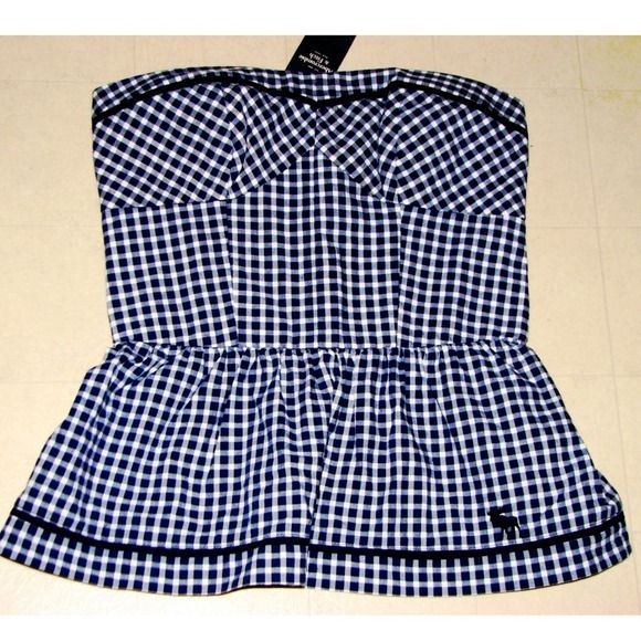 Perfect For The Upcoming Spring: ⚓️Abercrombie & Fitch Checkered Tube Top⚓️ Great Condition