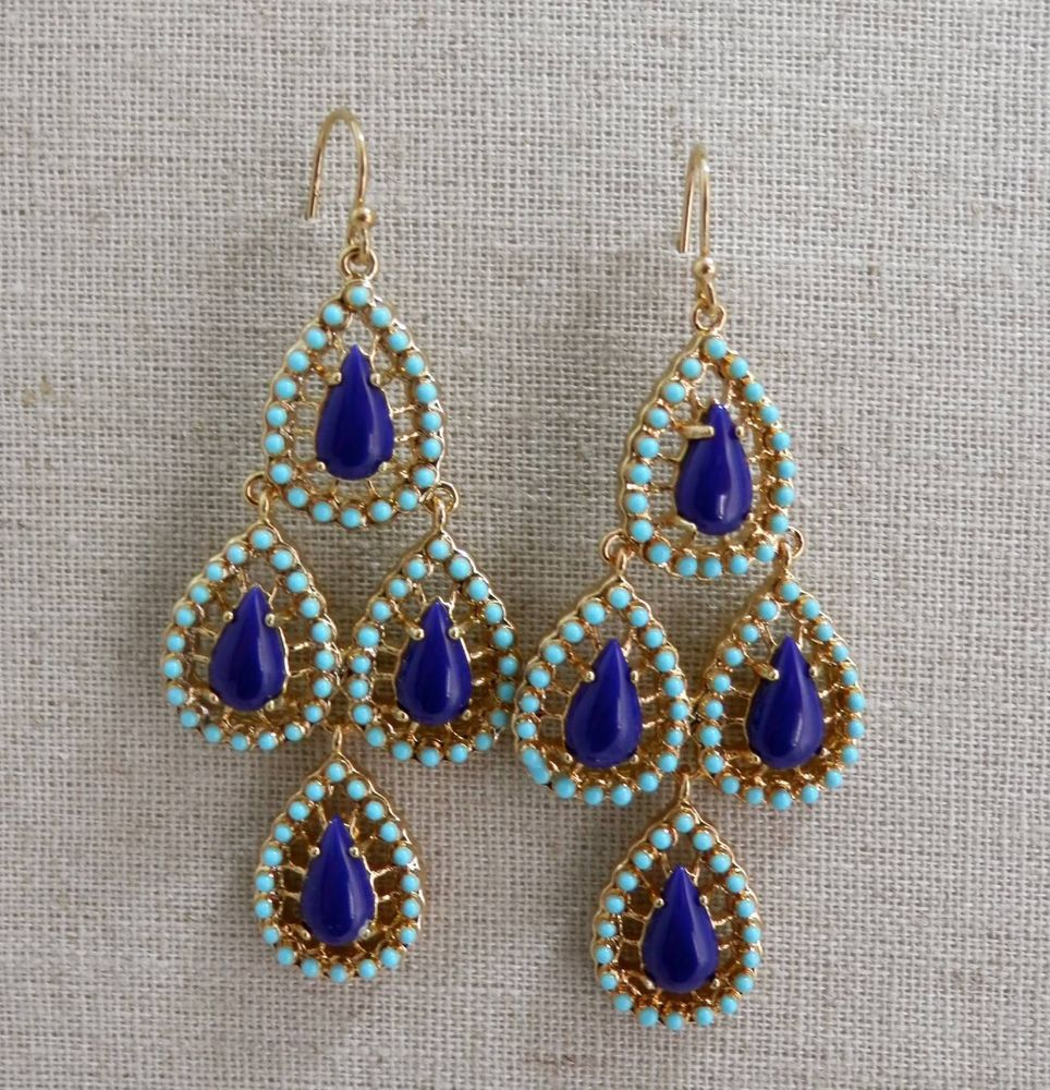Nib stella and dot seychelles teardrop chandeliers stones lapis nib stella and dot seychelles teardrop chandeliers stones lapis blue earrings stellaanddot chandelier arubaitofo Image collections
