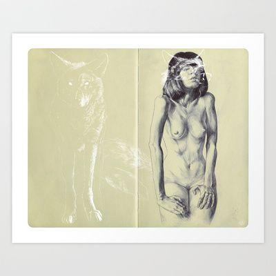 Chiguolf Art Print by Chamo San - $19.00