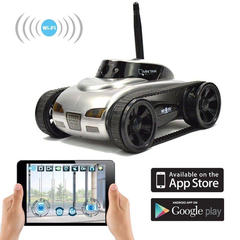 WiFi Smart Remote Camera Spy Tank. The Spy Tank with
