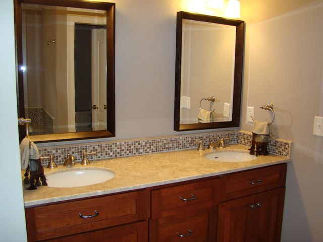 Bathroom Vanity Tops And Backsplashes With Regard To Contemporary Residence Backsplash Designs 42 With Images Vanity Backsplash Modern Bathroom Cabinets Bathroom Cabinets