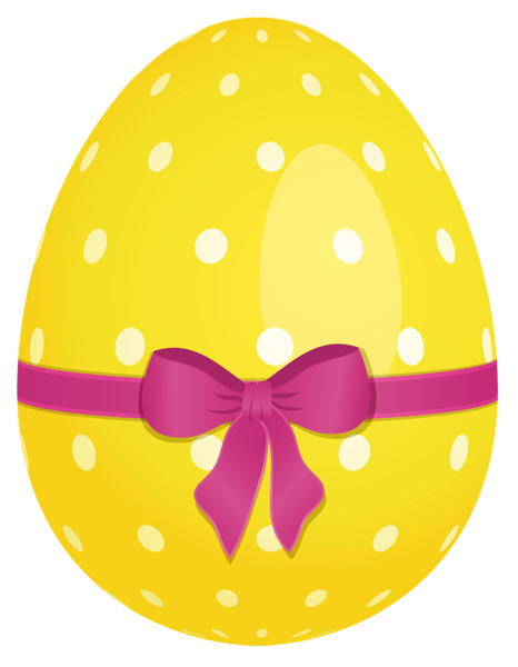 yellow dotted easter egg with pink bow png clipart easter clip rh pinterest com egg clip art pictures eggs clipart black and white