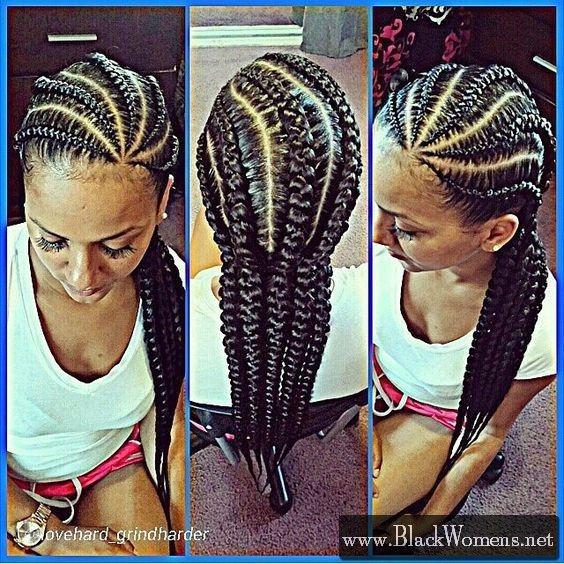 135 Afro American Hair Braid Styles Of 2016 Make Dimensional Braids Black Women Fashion Natural Hair Styles Hair Styles Cornrows Styles
