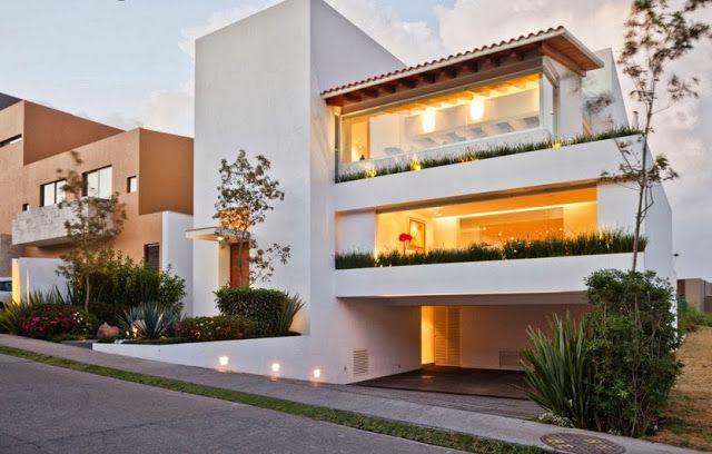 Casa Moderna De Tres Pisos Disenos De Casas Arquitectura
