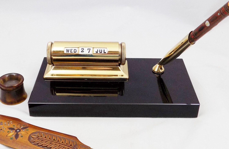 Sheaffer Pen Holder and Calendar Set 47112, Vintage Sheaffer, Vintage Office and Desk Decor by ShellyisVintage on Etsy
