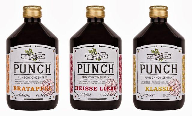 Punch concentrate in blends 'Bratapfel', 'Heisse Liebe' & 'Klassik' byBros. http://t-h-i-n-g-s.blogspot.com