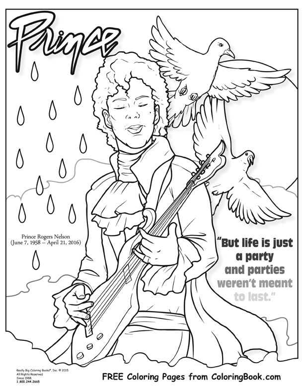 Prince - Free Online Coloring Pages | Art | Pinterest | Music ...