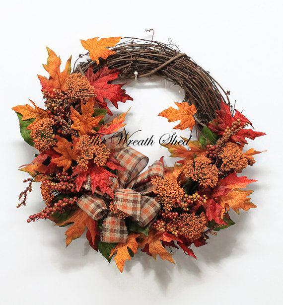 Autumn Wreath Fall Wreath Fall Home Decor Farmhouse Fall Wreath