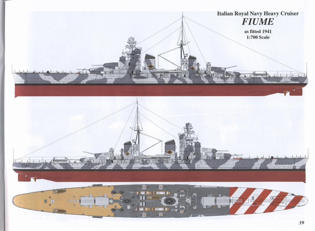 Wwii italy navy battleship roma 1943 plastic model images list - Fiume Italian Heavy Cruiser Class Zara