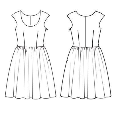 Patron gratuit robe grande taille recherche google for Apprendre a coudre des vetements