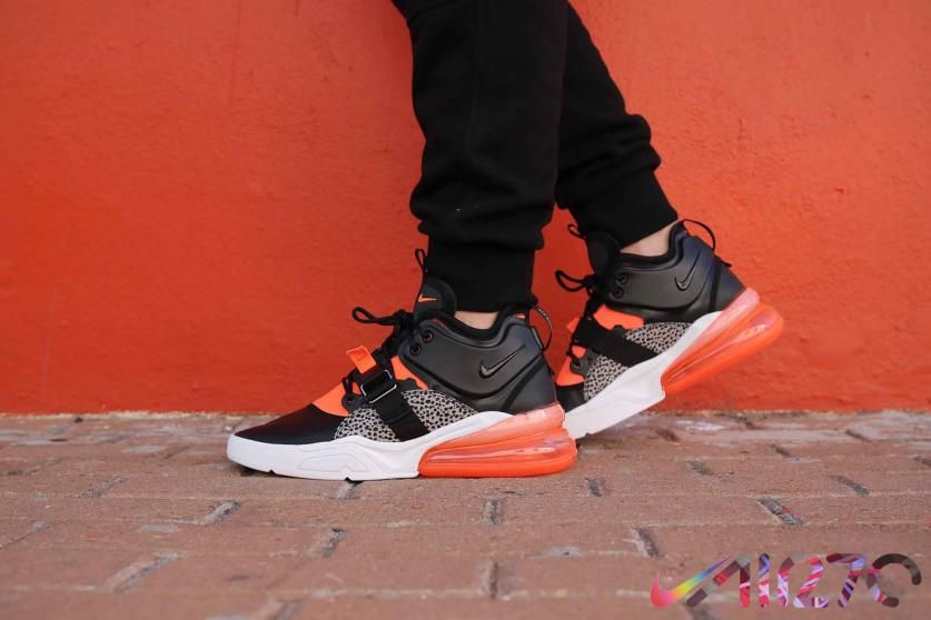 Men s Nike Air Force 270 Safari AH6772-004 Black Hyper Crimson ... ed8cab0c6a7da