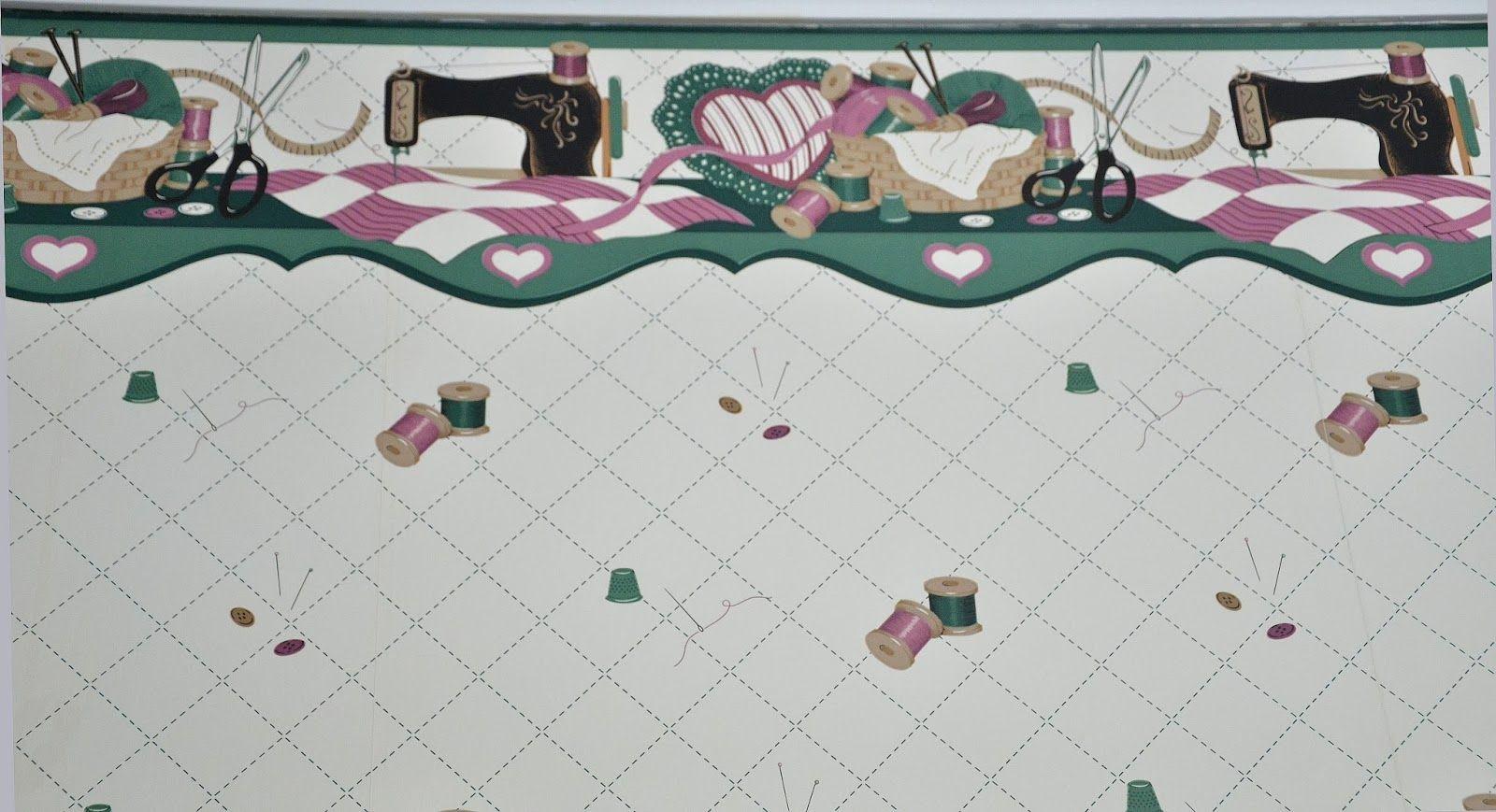 Http 4 Bp Blogspot Com Lrj1gw0i Sk Us6c9jqehji Aaaaaaaacdc 8tfnhemugna S1600 Sewing Wallpaper Jpg Sewing Room Design Vintage Sewing Machines Theme