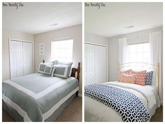 Guest-Bedroom-Makeover-4.jpg 650×488 pixels | Bedrooms | Pinterest ...