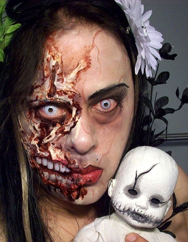 maquillaje-terror1jpg (600×772) HALLOWEEN MAKEUP Pinterest - halloween horror makeup ideas