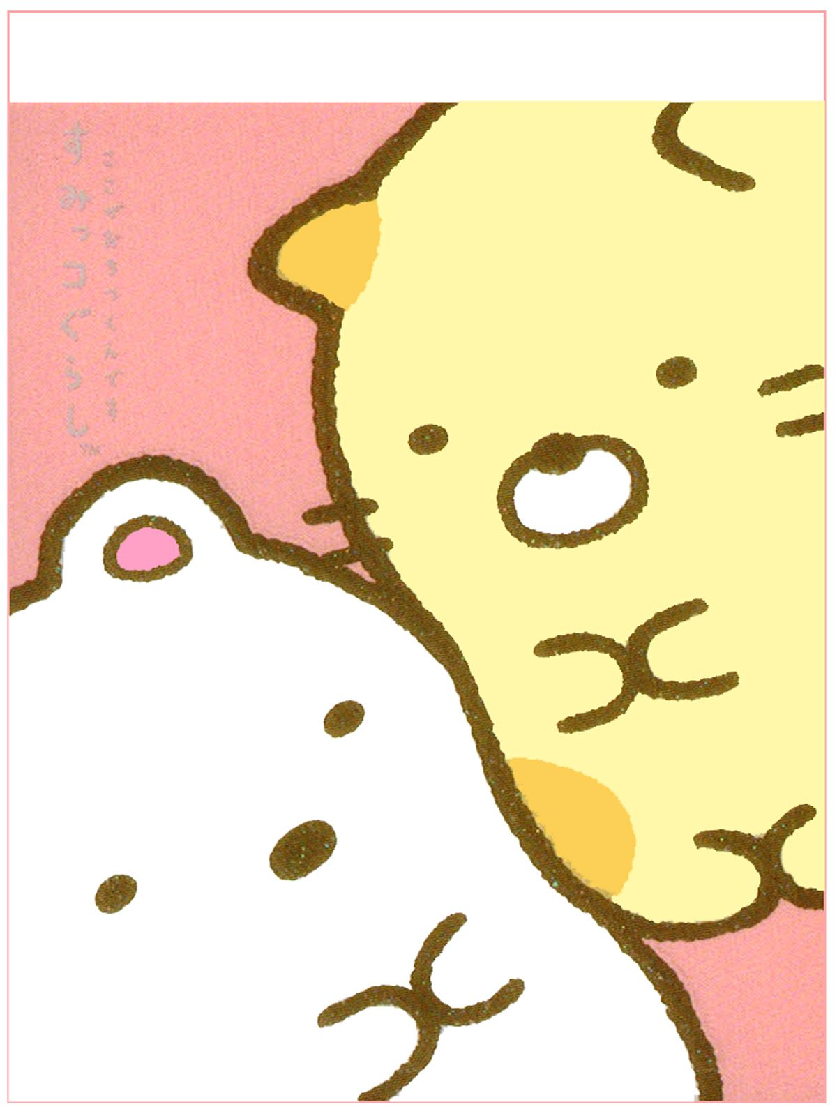 Wallpaper iphone san x - San X Sumikko Gurashi Friends Mini Memo Pad Pink
