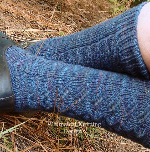 Ravelry: A Lotta Whimsy Socks pattern by Rebecca Mercier free 2,75