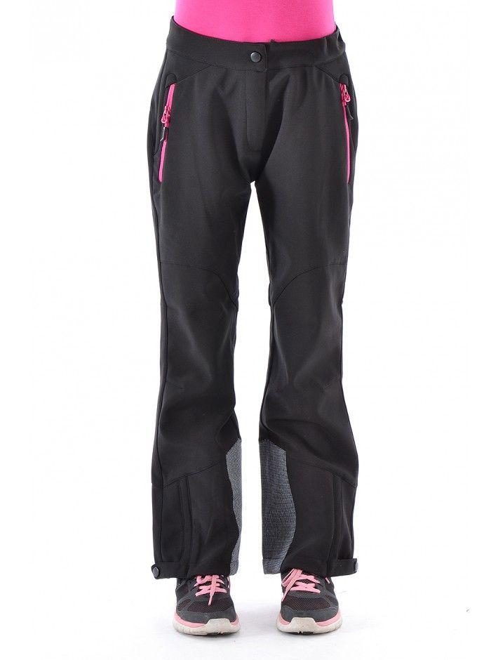 Softshellové nohavice, ktoré ochránia pred snehom. Nohavice majú elastický pás s reguláciou obvodu, nohavice sú rozopínacie pre ľahšie obúvanie a v spodnej časti sú spevnené špeciálnym mteriálom proti oderu. Nohavice majú anatomicky tvarované kolená. Zloženie: 100% polyester