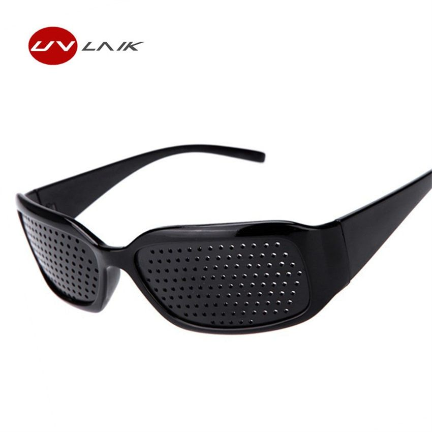 UVLAIK Black Pinhole Sunglasses Women Men Anti-fatigue