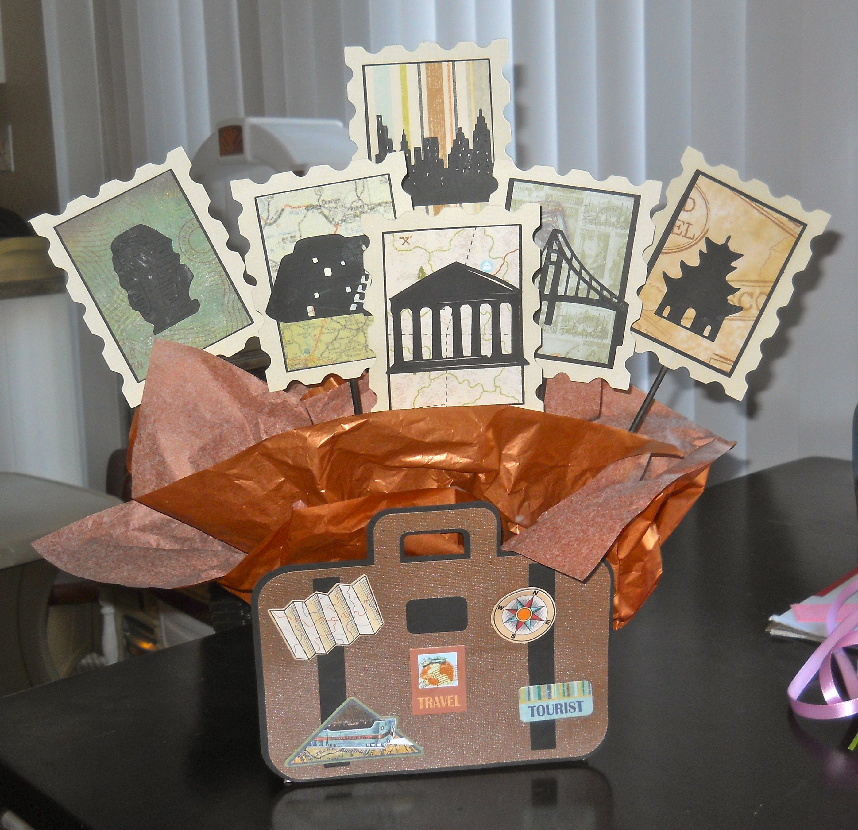 Great Travel Themed Centerpiece For A Retirement Party All The Places