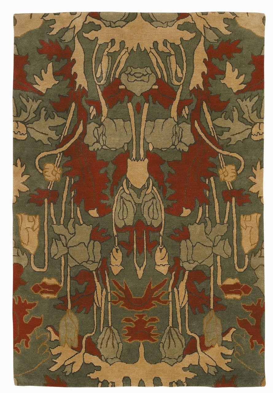 Craftsman Poppies Rug Arts, crafts house, Tiger rug