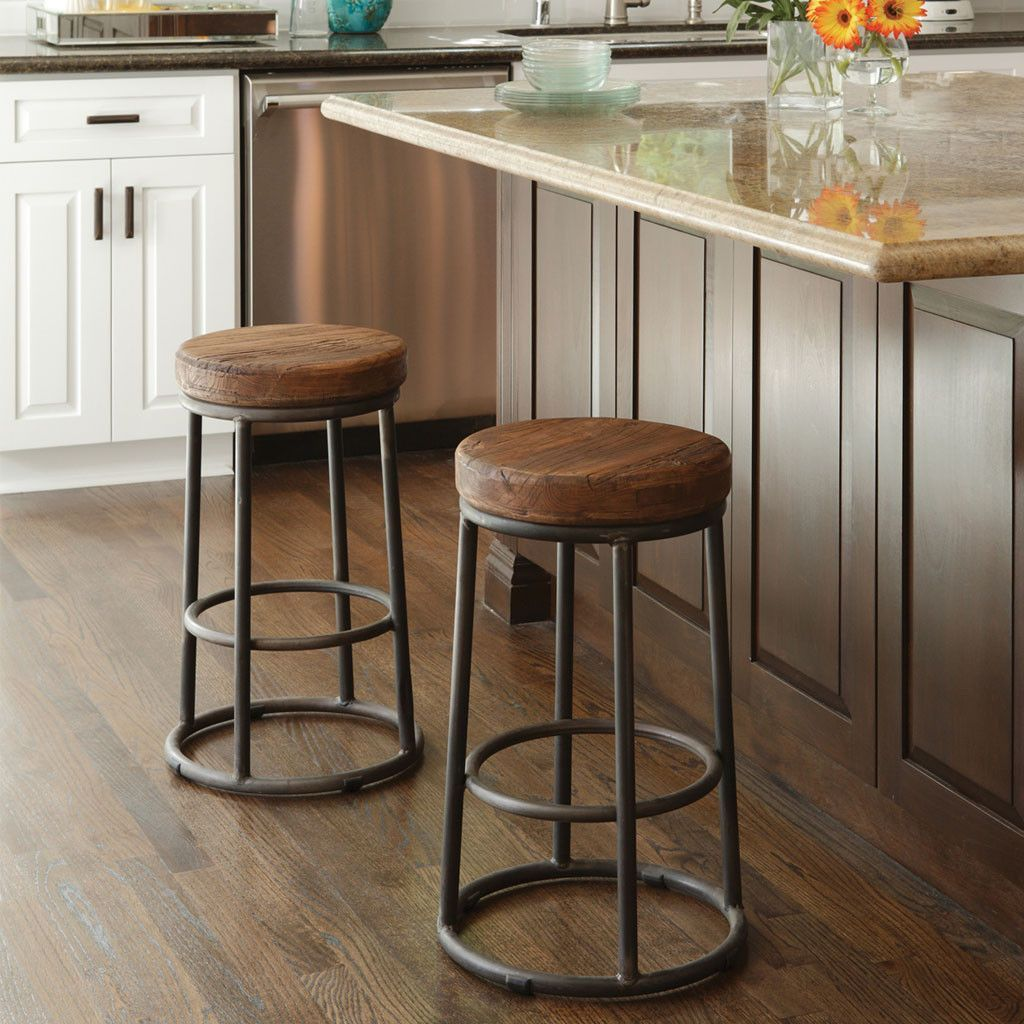 Jaden Stool Natural Stools Kitchen Bar Decor Rustic