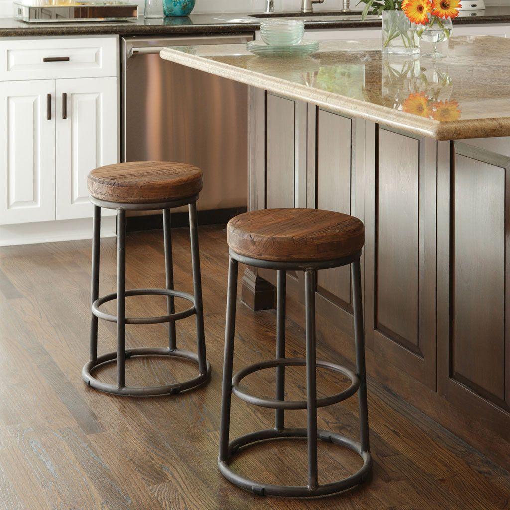 Jaden Stool Natural Rustic Bar Stools Kitchen Bar Decor