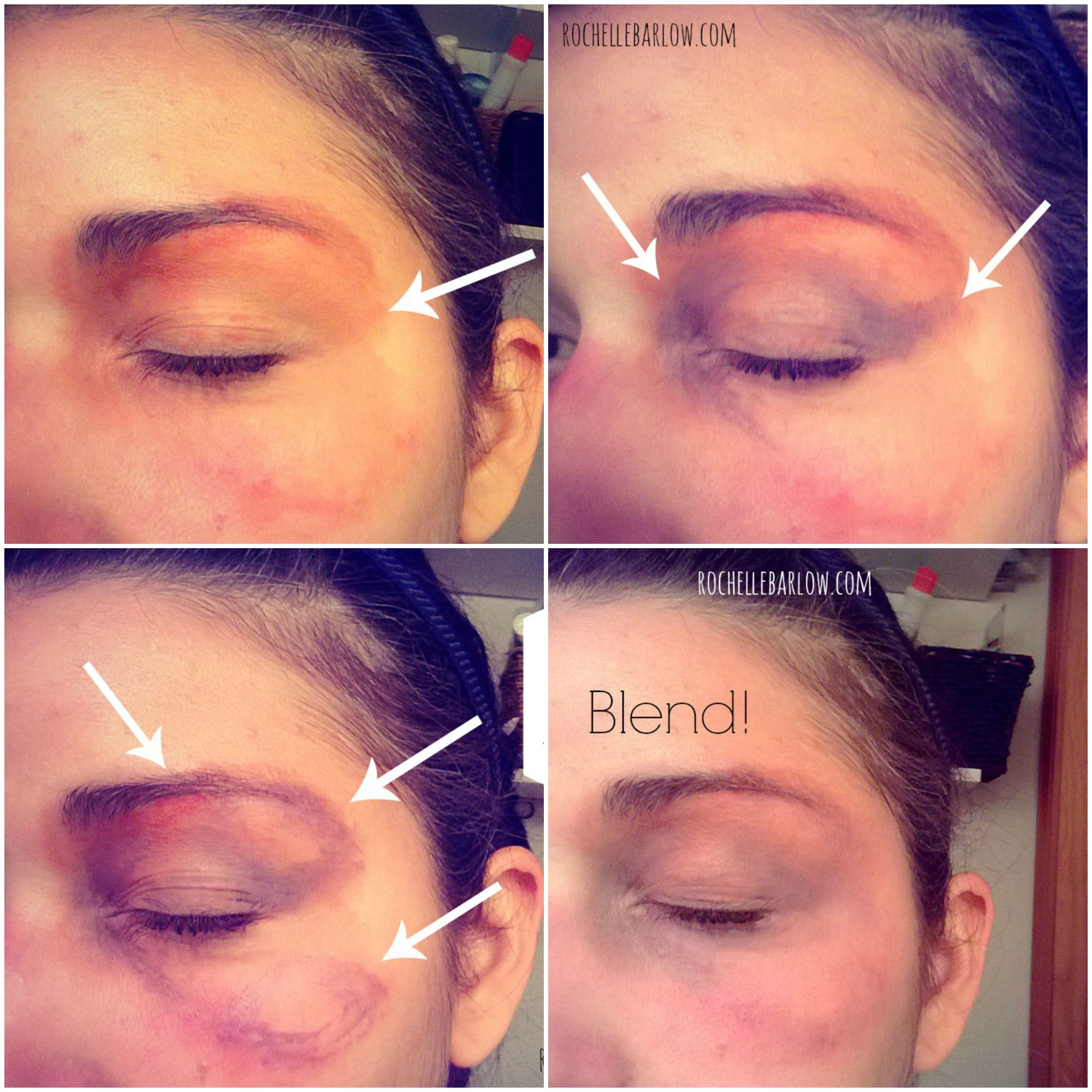 How to bruise yourself with stage makeup tutorials makeup and sfx used this tutorial bruises were so convincing they fooled a paramedic baditri Choice Image