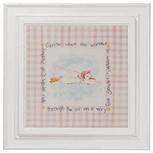 Nursery Rhymes Framed Wall Art: Mother Goose | Mother goose ...