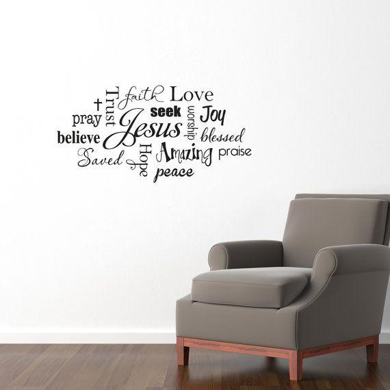 Christian Wall Decal - Jesus Subway Wall Art Sticker - Praise ...