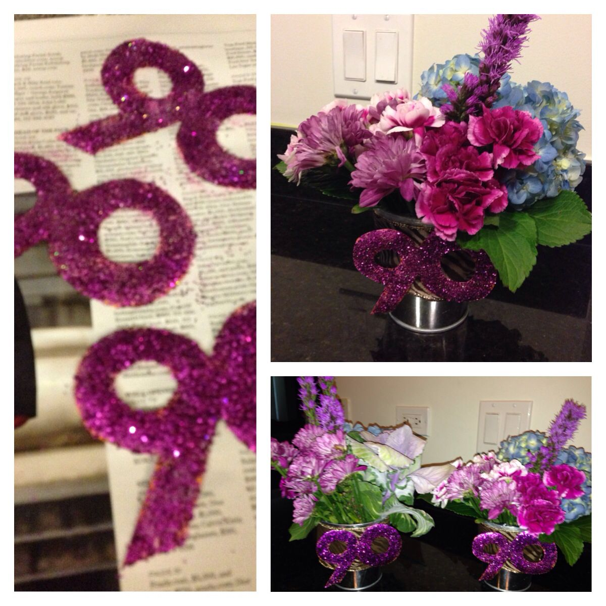 Floral Arrangement I Made For 90th Birthday Party I Made 4 I