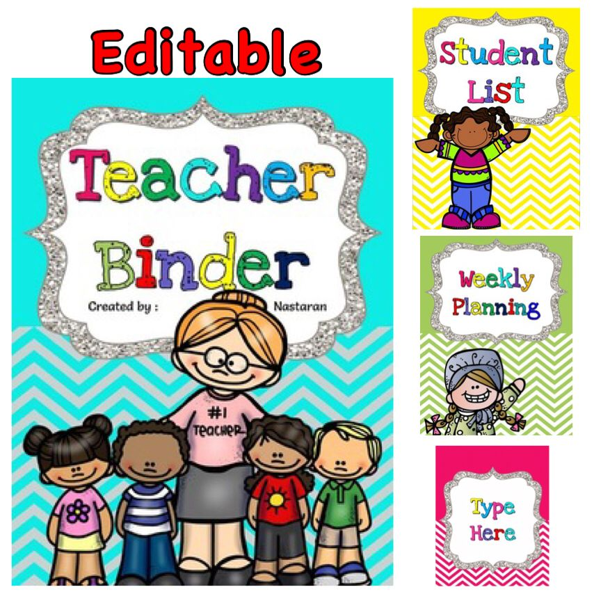 This chevron theme teacher binder is a complete collection