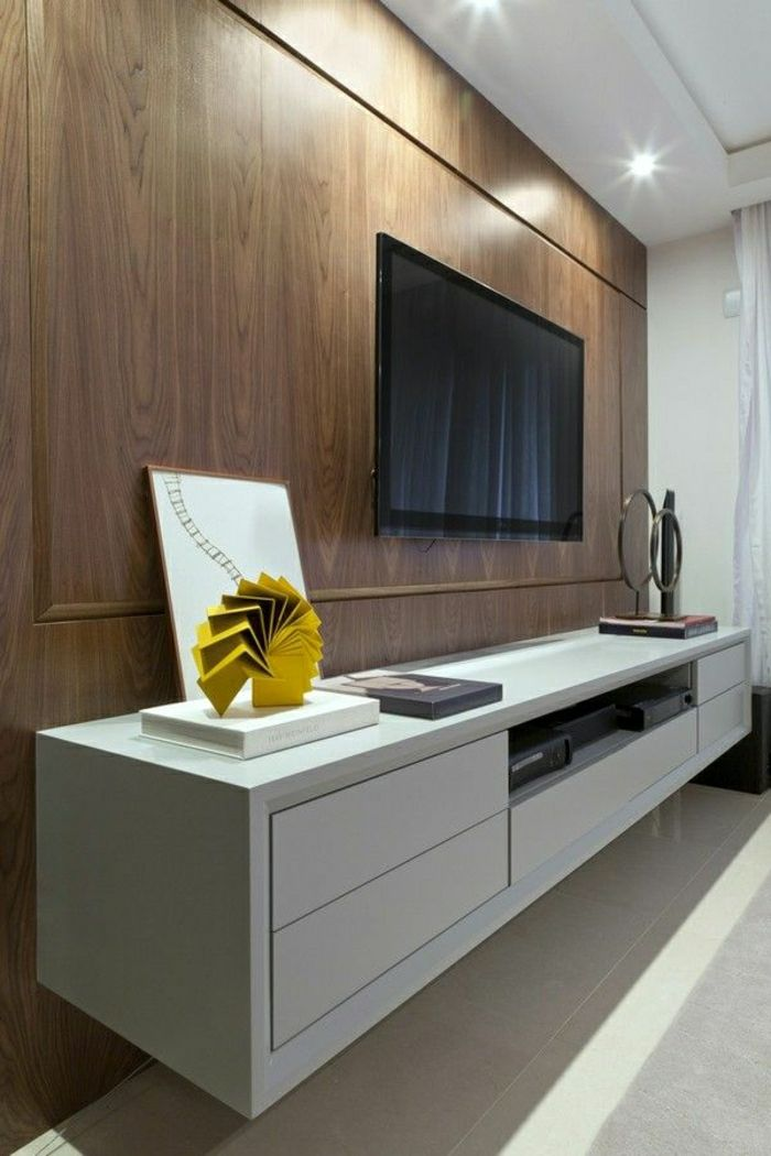 tv wandpaneel 35 ultra moderne vorschl ge beesondere wandverkleidungen. Black Bedroom Furniture Sets. Home Design Ideas