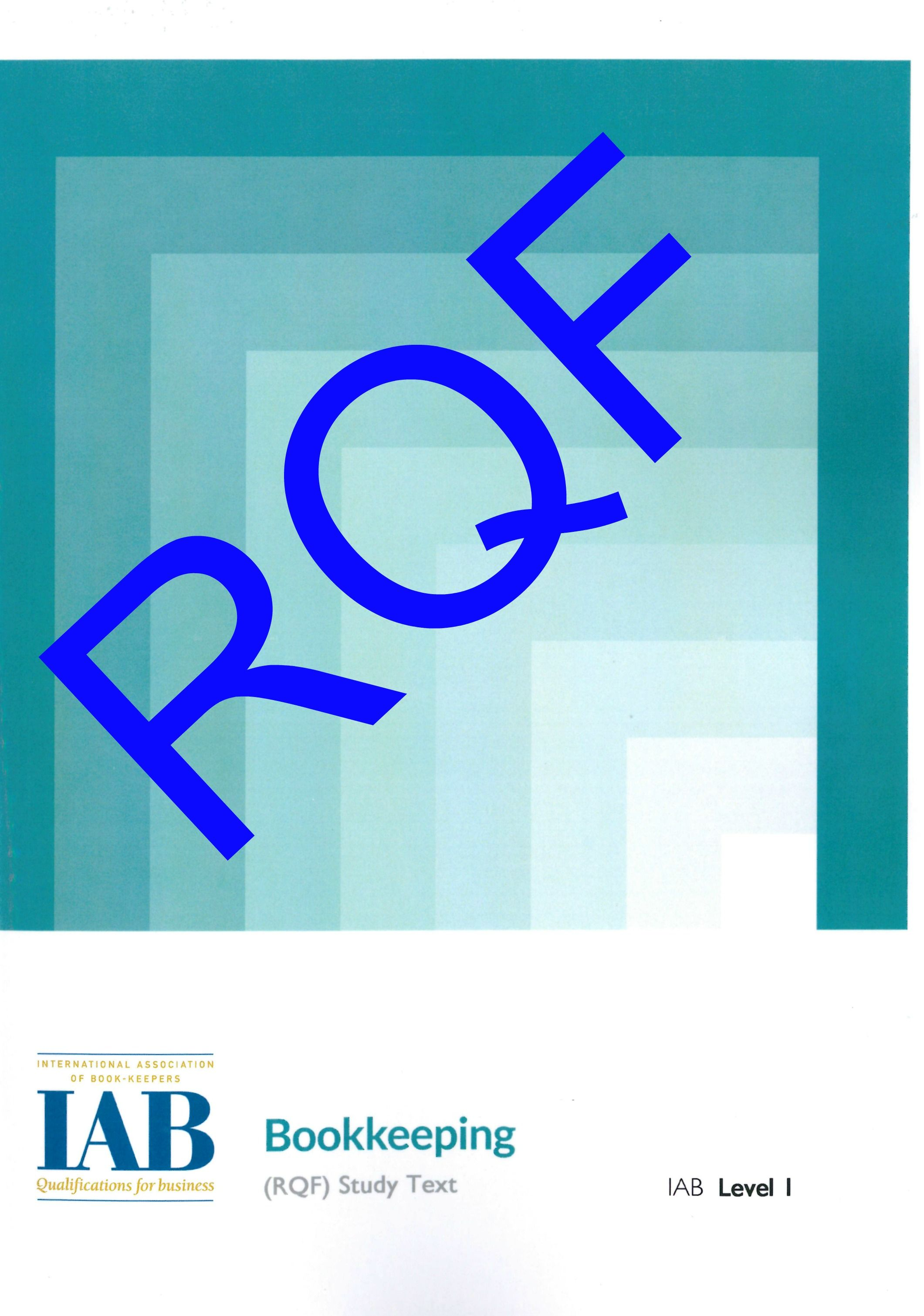 Pre-Order - Level 1 Bookkeeping RQF - Study Text