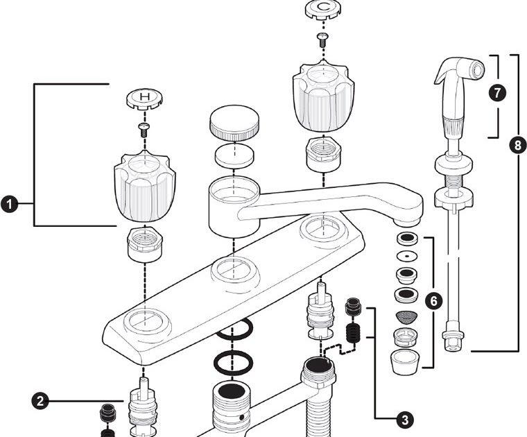 Bath Sink Faucet Handle Parts Licious Sink Faucets Parts ...