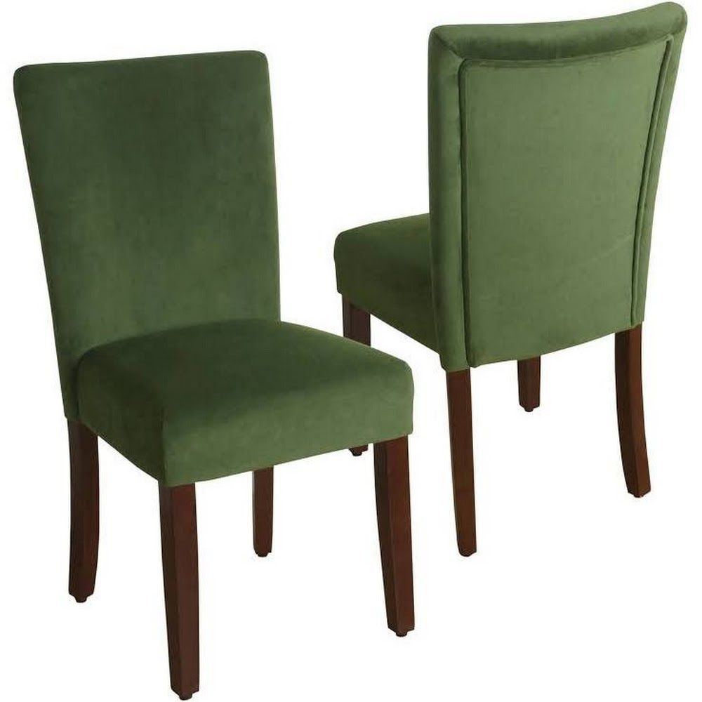 Google express homepop green velvet parson dining chair