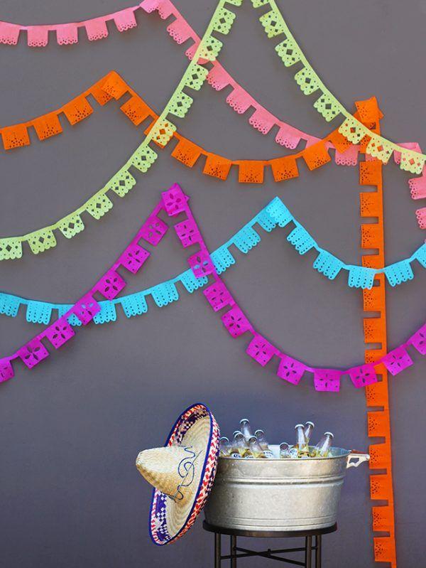 DIY Papel Picado Banners -   diy Decoracion mexicana