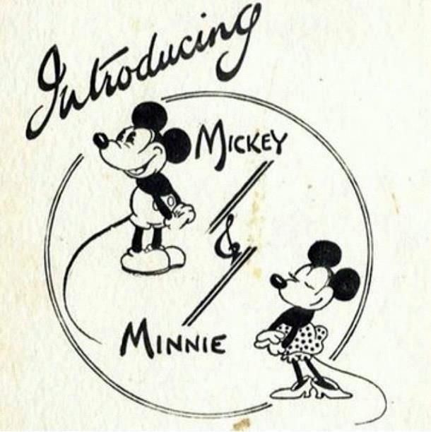 Early Mickey and Minnie Graphic (With images) | Mickey mouse ...