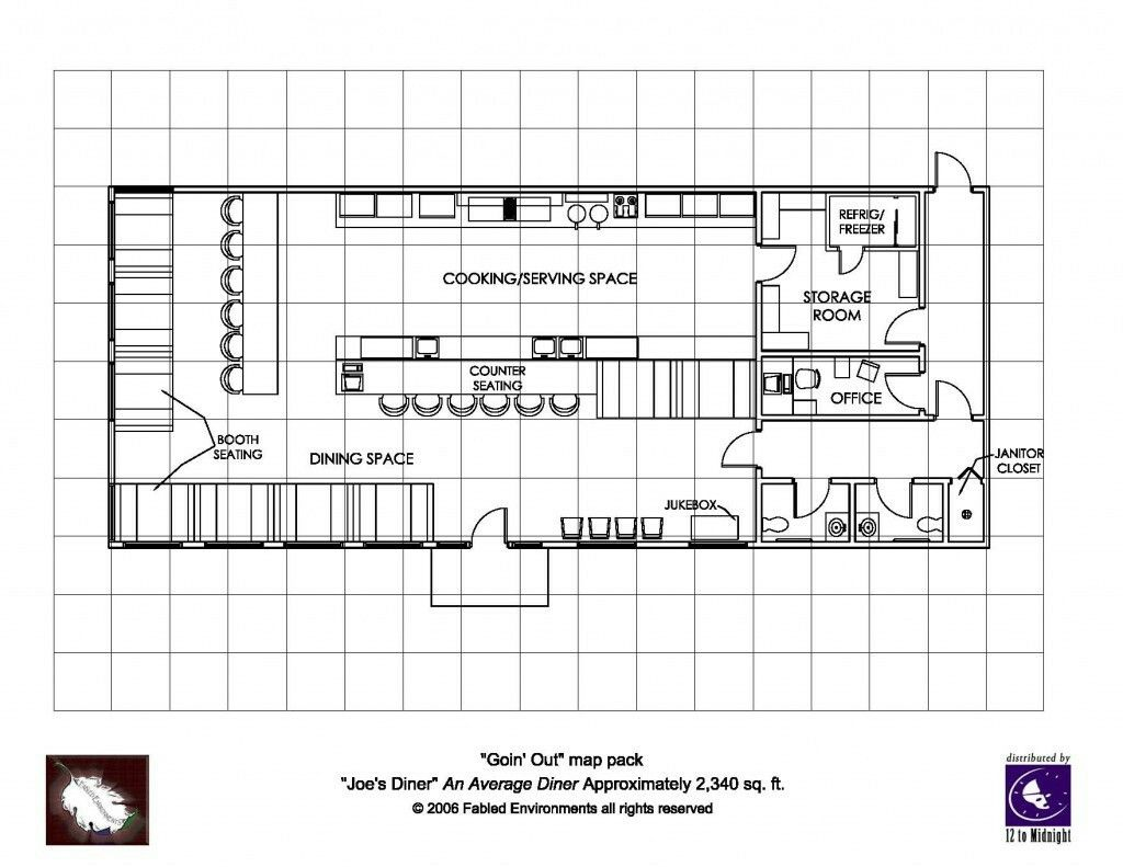 Simple Diner Floorplan Restaurant Floor Plan Restaurant Layout
