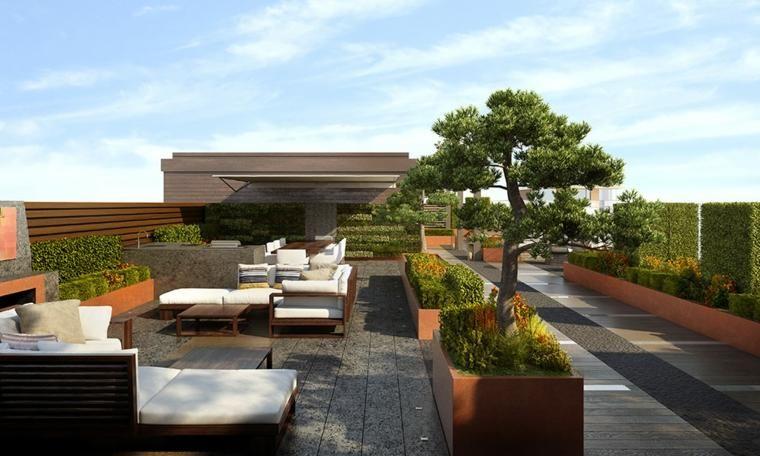 Gartenterrasse Dachboden Landschaftsgestaltungsideen für
