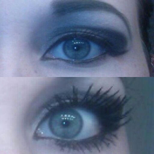 Younique 3D fiber lashes!! I have no mascara on in the top and the fiber lashes on the bottom this stuff is amazing!  https://www.youniqueproducts.com/KatelandFisher