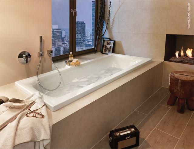 DIANA Life Einbauwanne mit Mittelablauf – bequem baden zu zweit ...